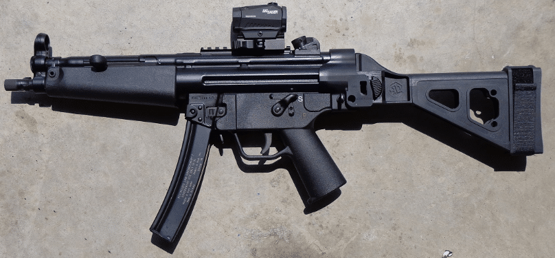 mp5 pistol with sig romeo5 optic