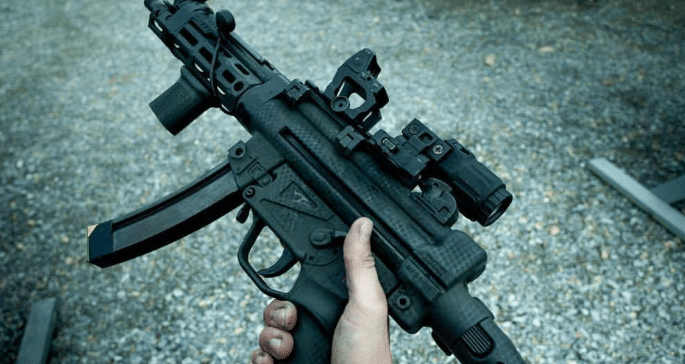 Mp5 with trijicon rmr and eotech g33 magnifier