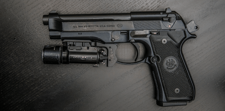 black m9 92fs with surefire mr11 adapter