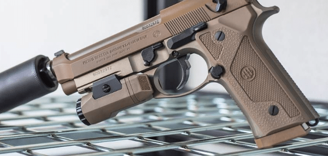 beretta m9a3 with inforce apl weapon light