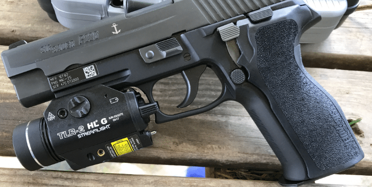 sig mk25 with streamlight Tlr 2 HL G weapon light and laser