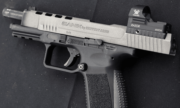 Canik tp9sfx 9mm with vortex razor red dot sight