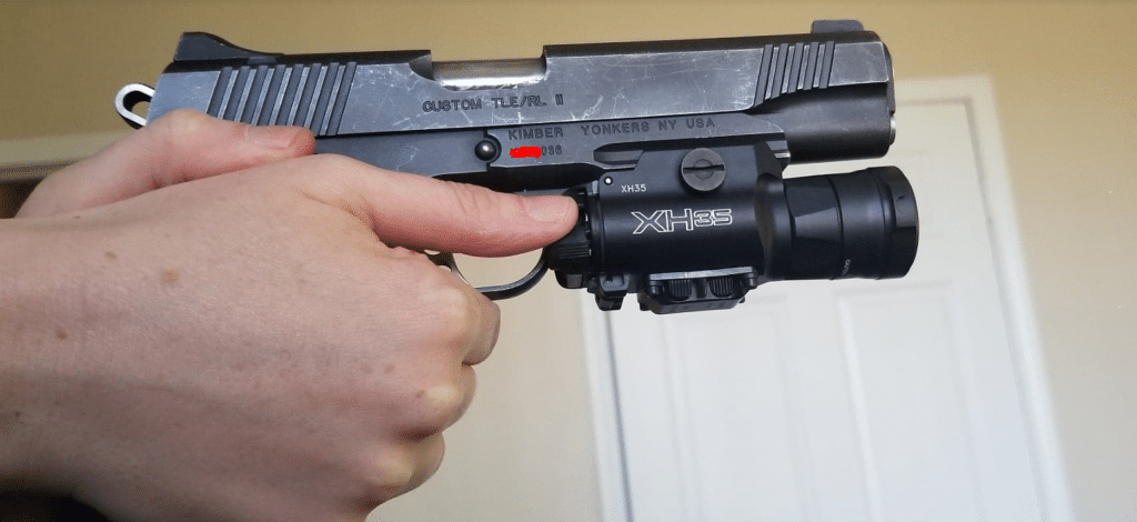 Kimber 1911 TLE 2 with Surefire XH35 weapon light