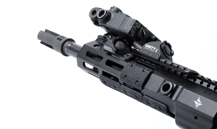 Unity Tactical hot buttons on ar15 rifles with steiner DBAL