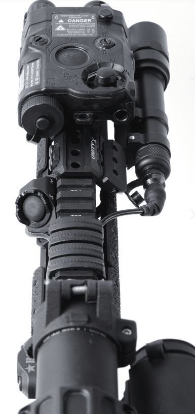 unity tactical hot button switch with eotech peq and surefire scout