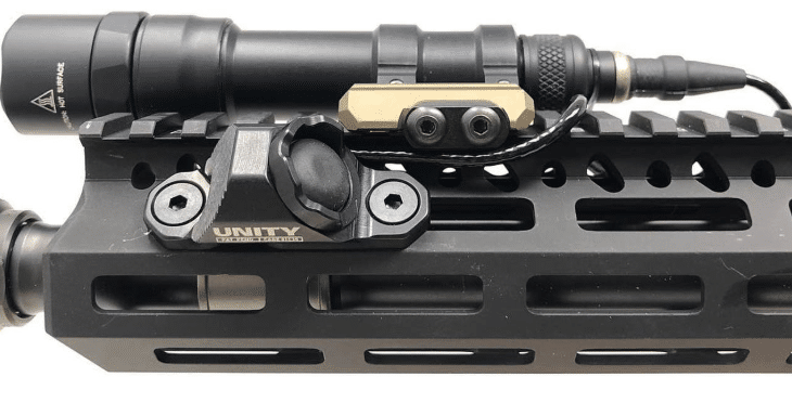 Unity tactical hot button angled with MLOK mount