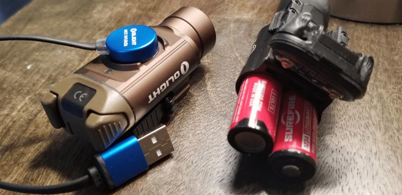 olight-pl-pro-usb-charging-vs-surefire-cr123A-batteries-1