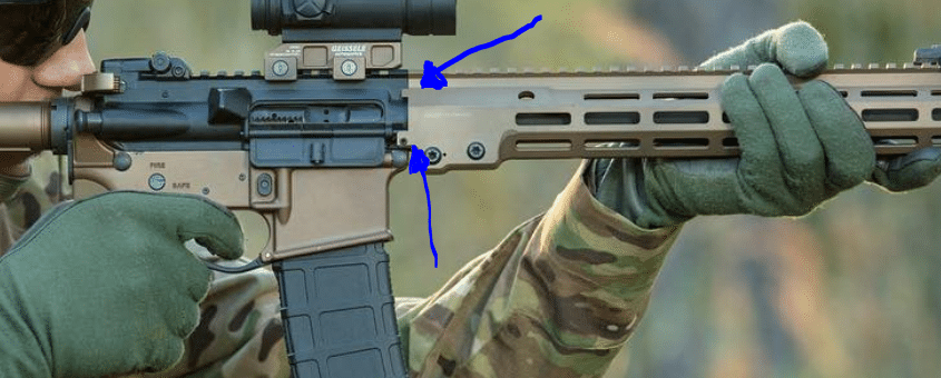 geissele mk16 rail anti rotational tabs