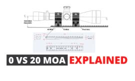 0 VS 20 MOA Explained – For Precision Shooting