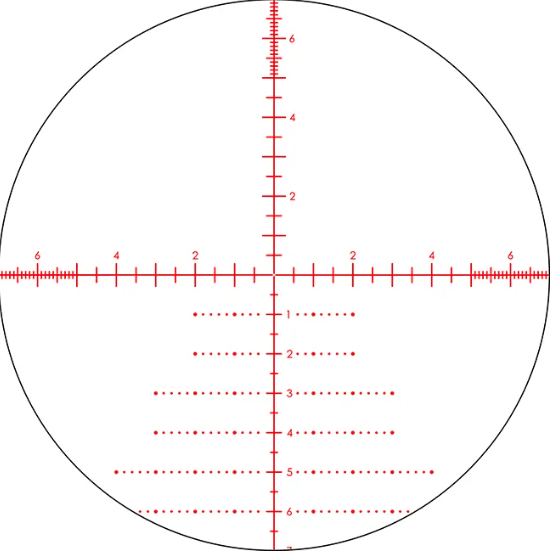 EBR-2C MRAD RETICLE