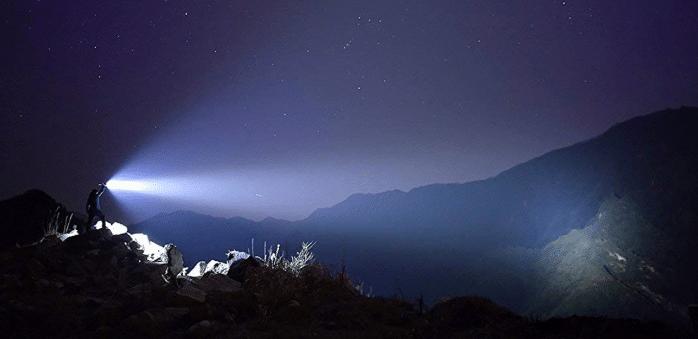 Olight X9R Marauder 25000 lumens outdoors