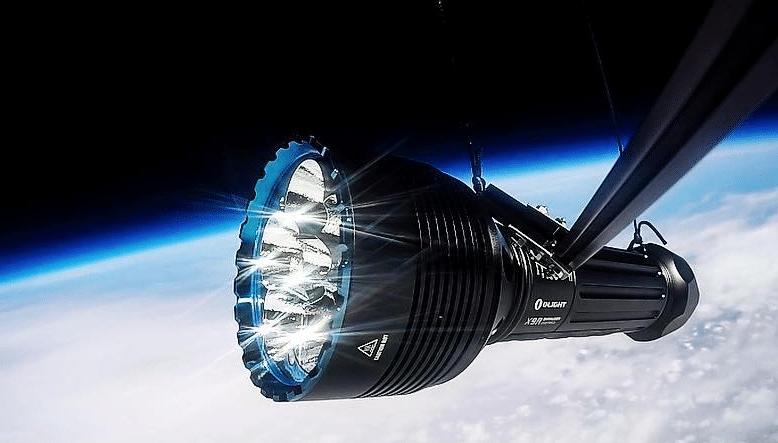 Olight X9R Marauder in space