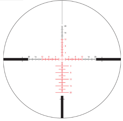 Vortex EBR7c mrad illuminated reticle