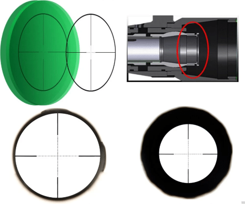 glass etched reticle mil dot