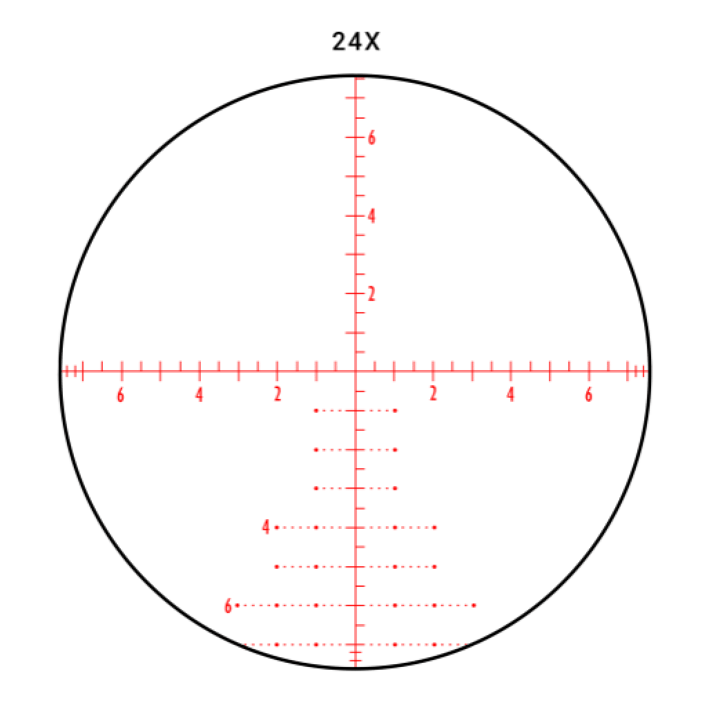 6-24X50 apmr FFP scope reticle
