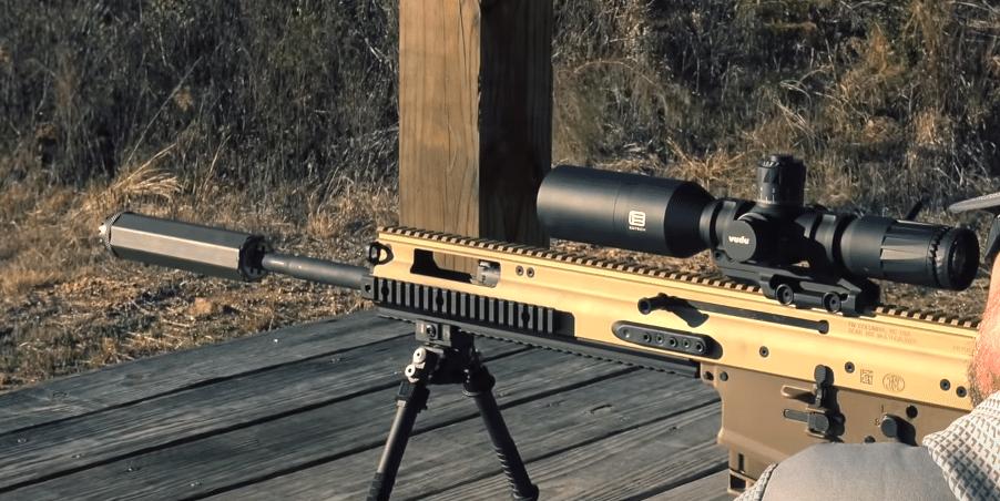 EOTech vudu 5-25x50 on scar 20 rifle