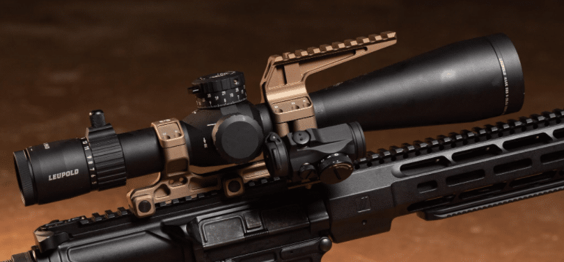 Leupold Mark 5 HD 7-35X56 on M110 rifle with Aimpoint Micro offset