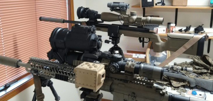 Night vision and thermal scope rifles