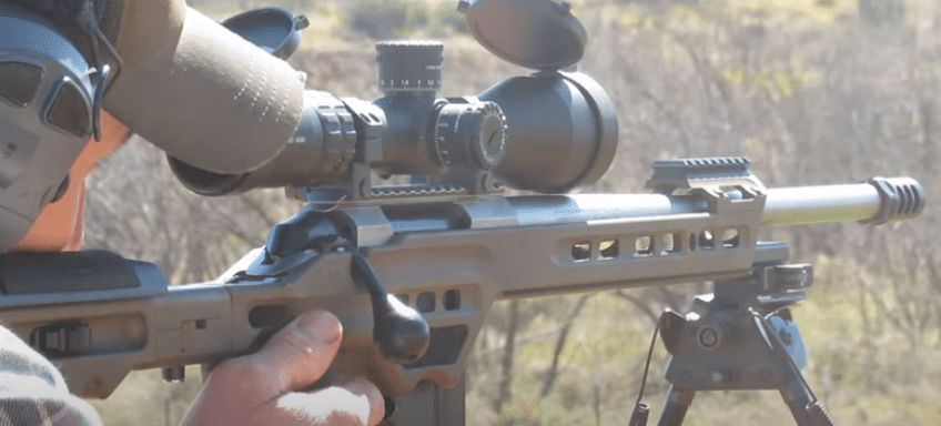 Primary Arms 3-18x50 ACSS apollo reticle scope on 6.5 rifle