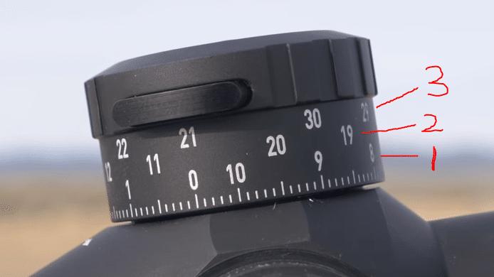 Turret numbers on Leupold Mark 5HD