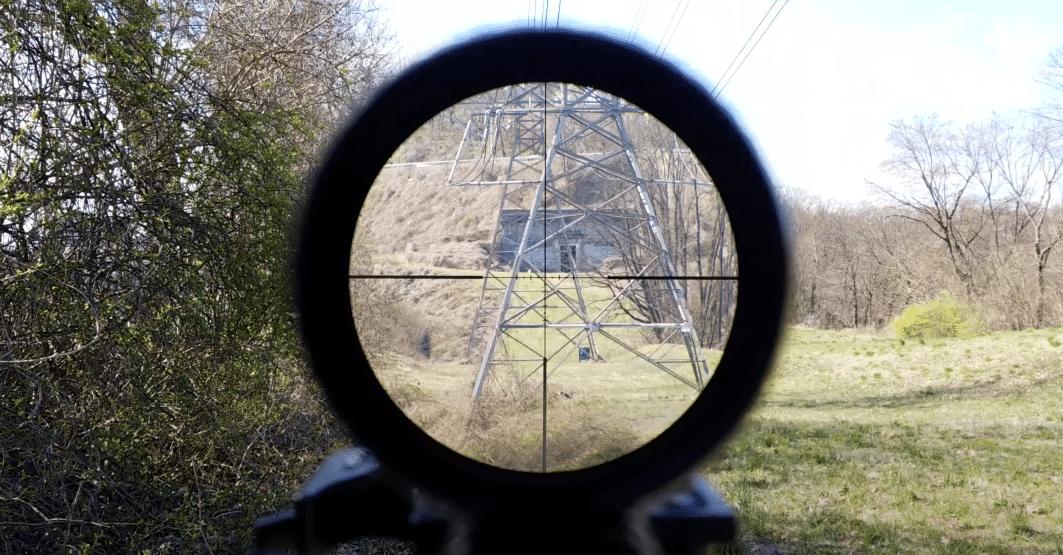 Vortex viper pst gen 2 at 6X magnification outdoors