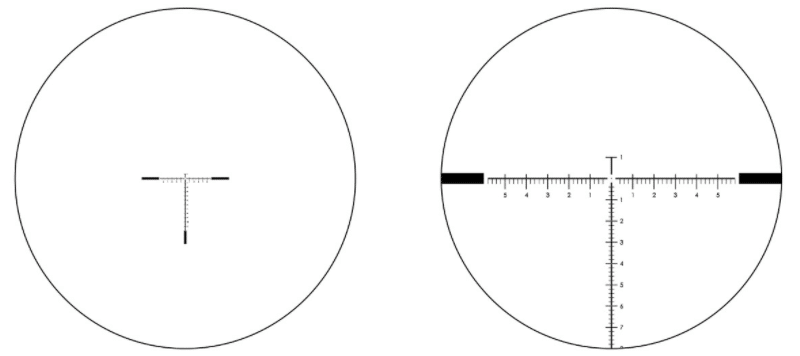 eotech 5-25x50 f1 mil has reticle 5X vs 25X