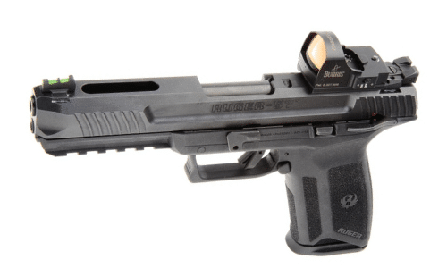 ruger 57 with burris fastfire 3 red dot sight