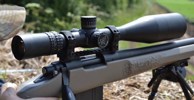 Nightforce NXS 5.5-22x56 hs scope on bolt action rifle