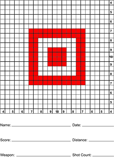 grid square targets for precision shooting