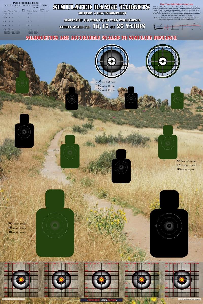 simulated long range targets