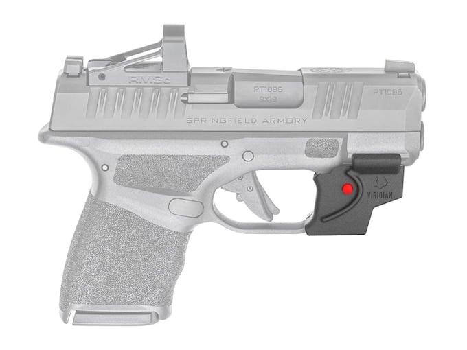 springfield hellcat pistol with viridian e series laser