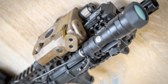 ATPIAL C on ar15 handguard with surefire light