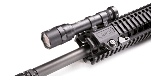 LaRue tactical scout light offset mount on picatinny rail
