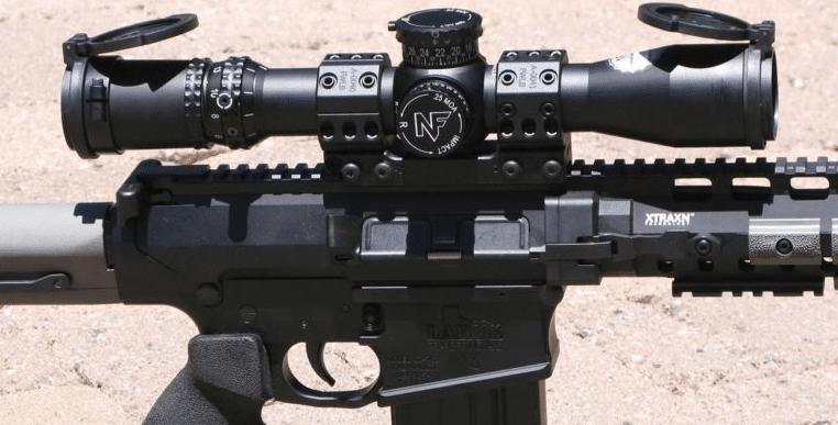 NightForce ATACR 4-16X42 F1 Scope on larue tactical obr predator 308