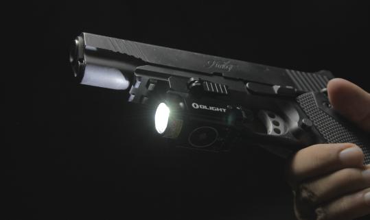 Olight BALDR Mini with white led light on kimber 1911 tactical
