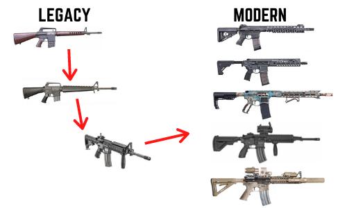 ar15 legacy to modern