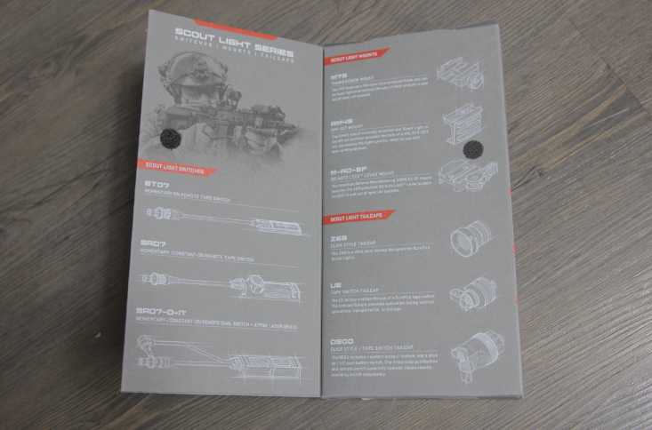 Surefire m600df packaging backside