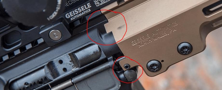geissele rail anti rotational tabs
