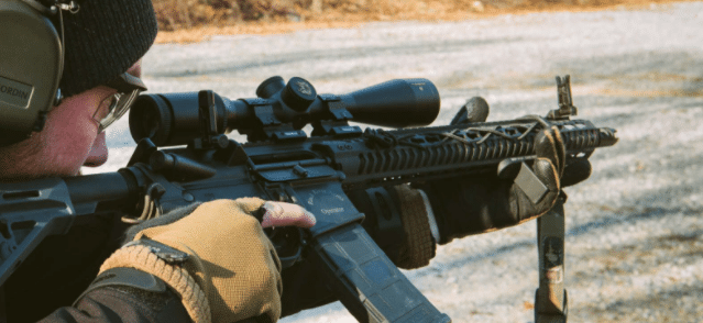 offset magpul iron sights on ar15