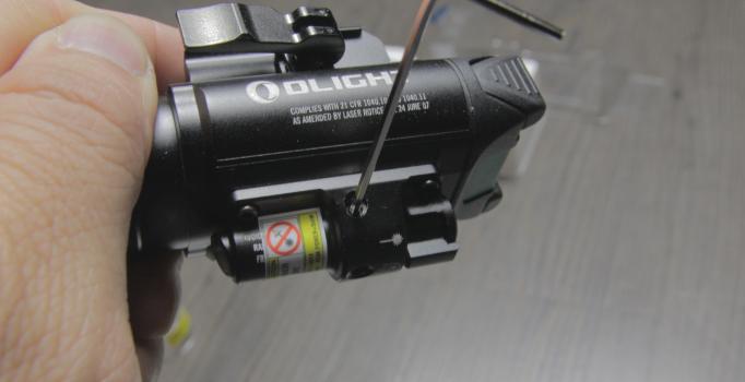 olight baldr pro laser elevation windage adjustment