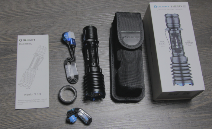 olight warrior x pro included items