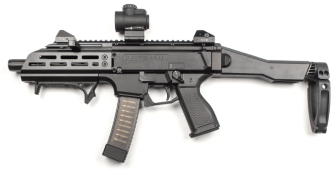 CZ Scorpion evo 3 with trijicon mro