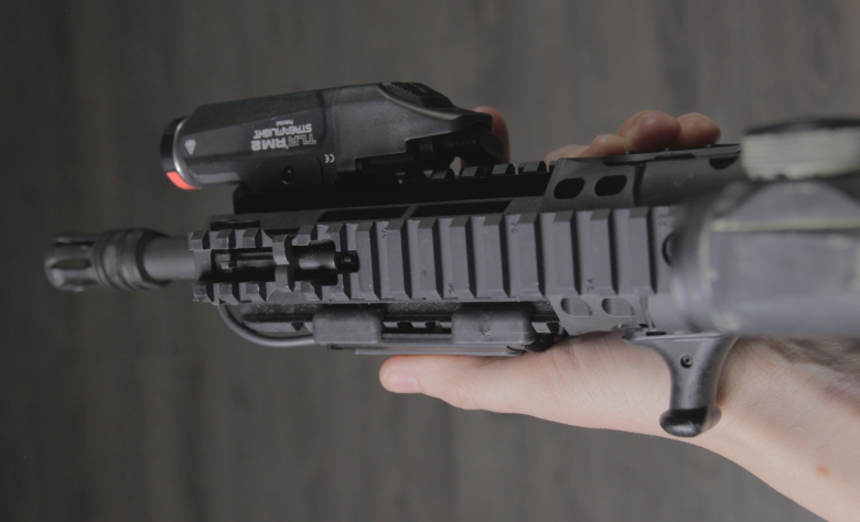 X95 with streamlight TLR RM2 left hand grip