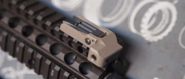 flip up front sight on ar handguard