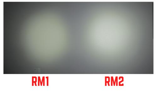 streamlight TLR RM1 vs RM2 beam comparison