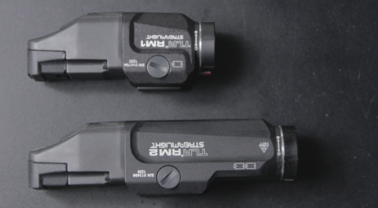 streamlight TLR RM1 vs RM2 sizes