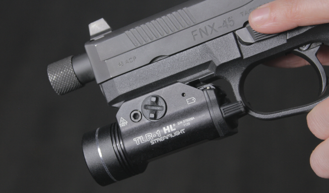 fnx 45 tactical with streamlight TLR 1 HL light
