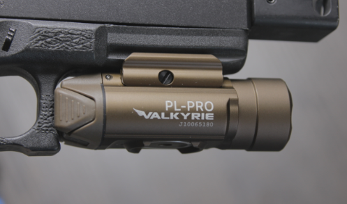 Olight PL PRO on glock 17 right side view