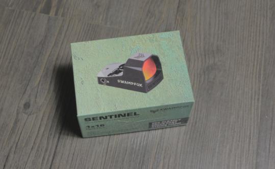 swampfox red dot sight packaging