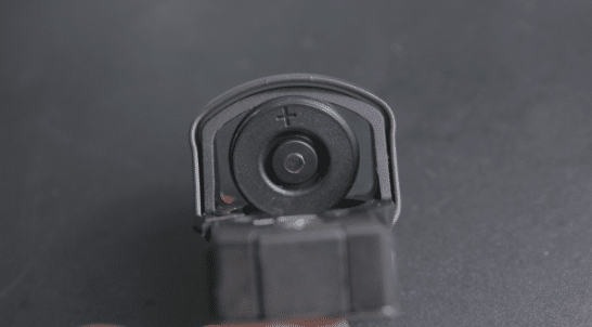 leupold deltapoint pro battery access door open rear view